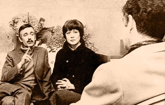 1969 Paul and Irene Mauriat with interviewer